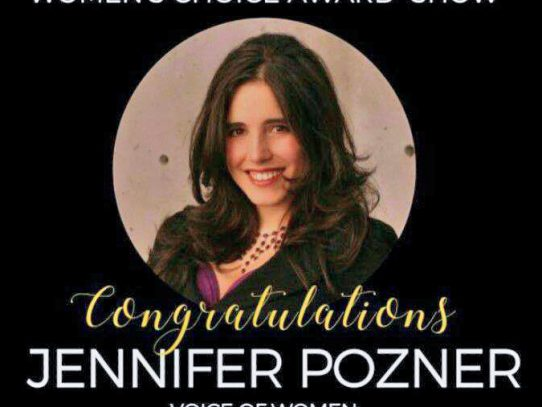 Feminist Media Critic Jennifer Pozner wins 2017 Women's Choice Award