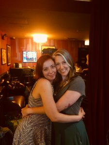Laura Madalinski and Kelly Haas on the set of Two in the Bush: A Love Story