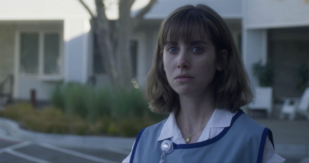 Alison Brie appears in Horse Girl