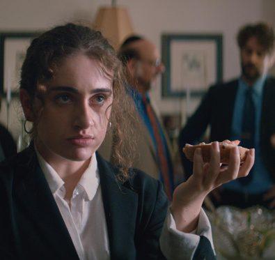 Rachel Sennott in Shiva Baby, an official SXSW selection.